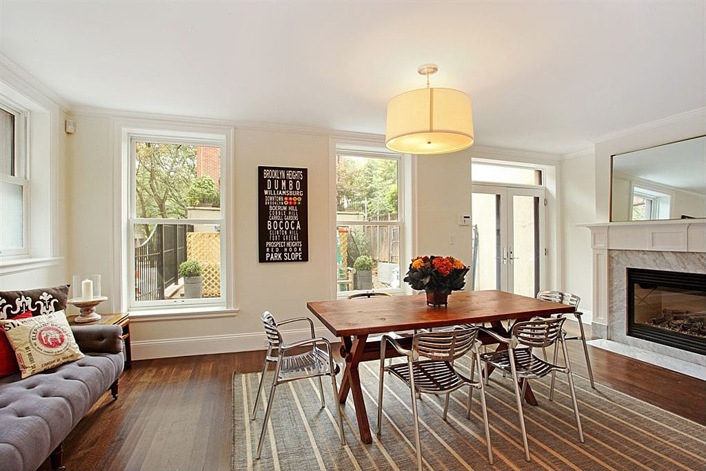 traditional brownstone in brooklyn heights with contemporary