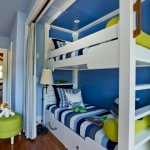 Bunk Bed Niche With Happy Beach-Inspired Color Palette