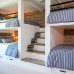 Country House Bunk Room with Queen-Size Bunk Beds