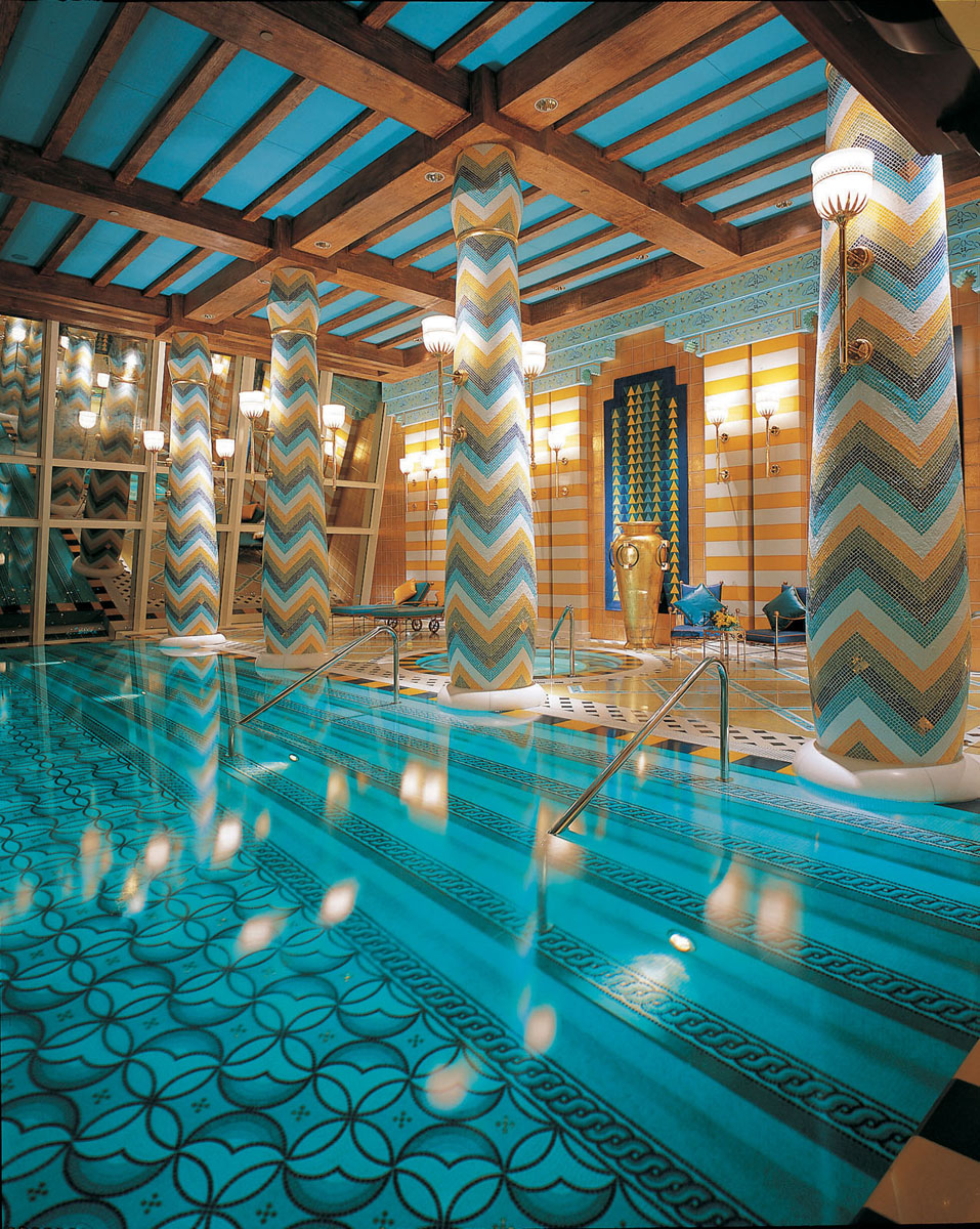 Opulent Indoor Swimming Pool Burj Al Arab Dubai