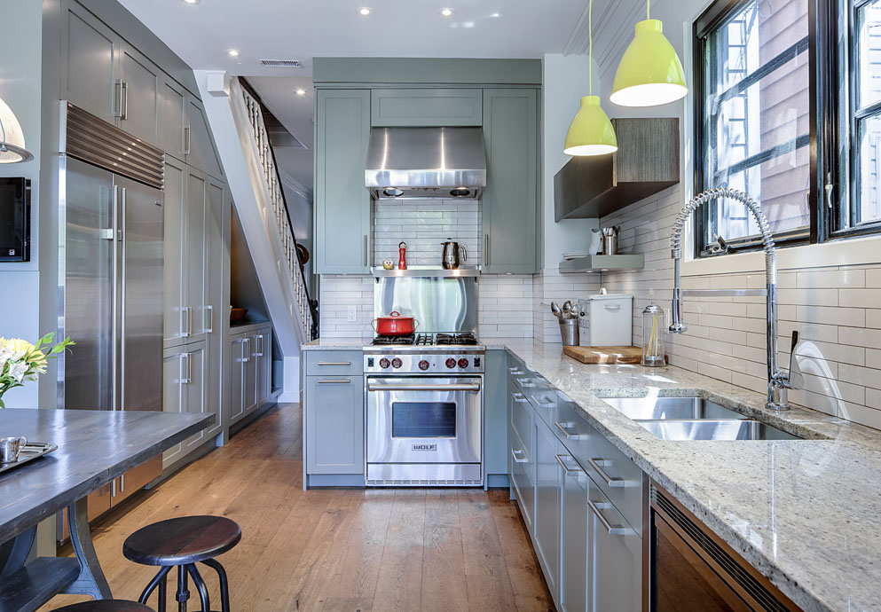 Contemporary Renovated Kitchen In Old Victorian House Idesignarch