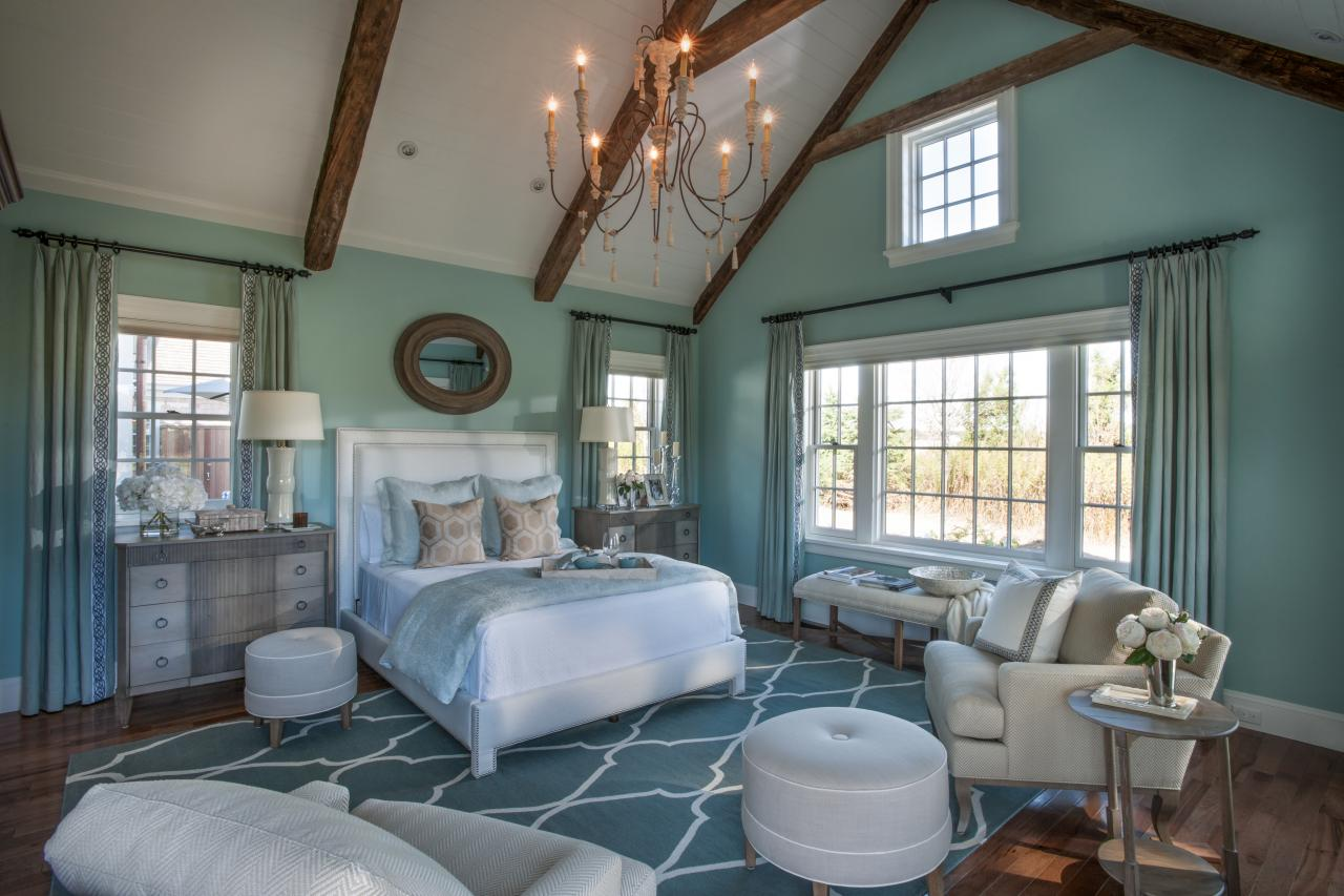 Master Bedroom with Coastal Style Soft Colors