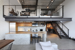 Brick and Steel Industrial Loft Interior Decor