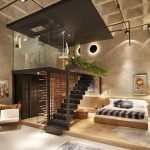 Unique Modern Loft Apartment with Elevated Glass Bathroom