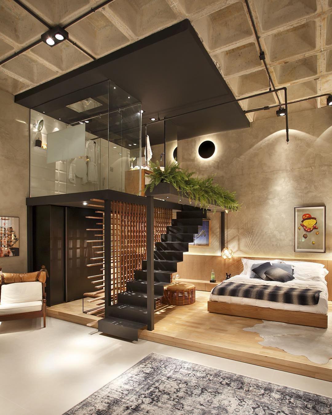 Unique Modern Loft Apartment With Elevated Glass Bathroom Idesignarch Interior Design Architecture Interior Decorating Emagazine