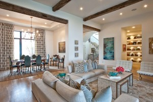 Luxury Contemporary Interior with Wood Elements
