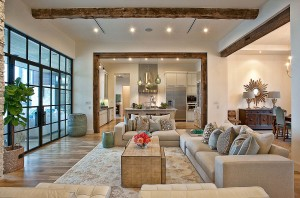 Modern Home with Reclaimed Wood Frames