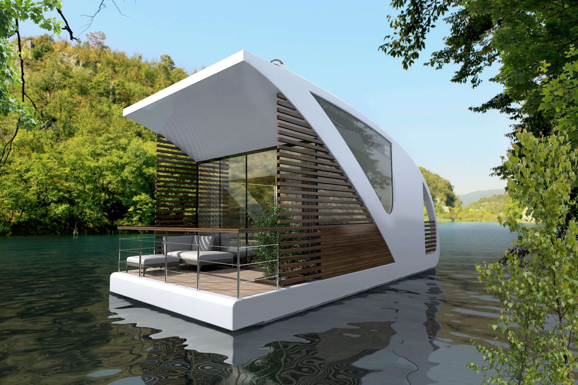 High Concept Luxury Houseboat