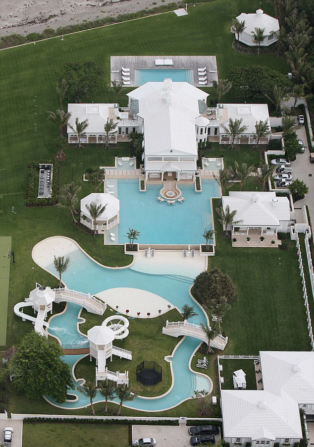 Celine Dion Jupiter Island Home with Water Park