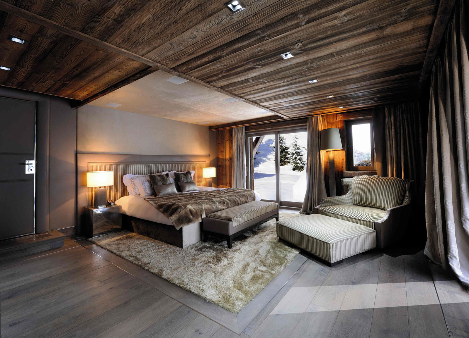 Chic Modern Rustic Chalet In The Rh 244 Ne Alpes Idesignarch