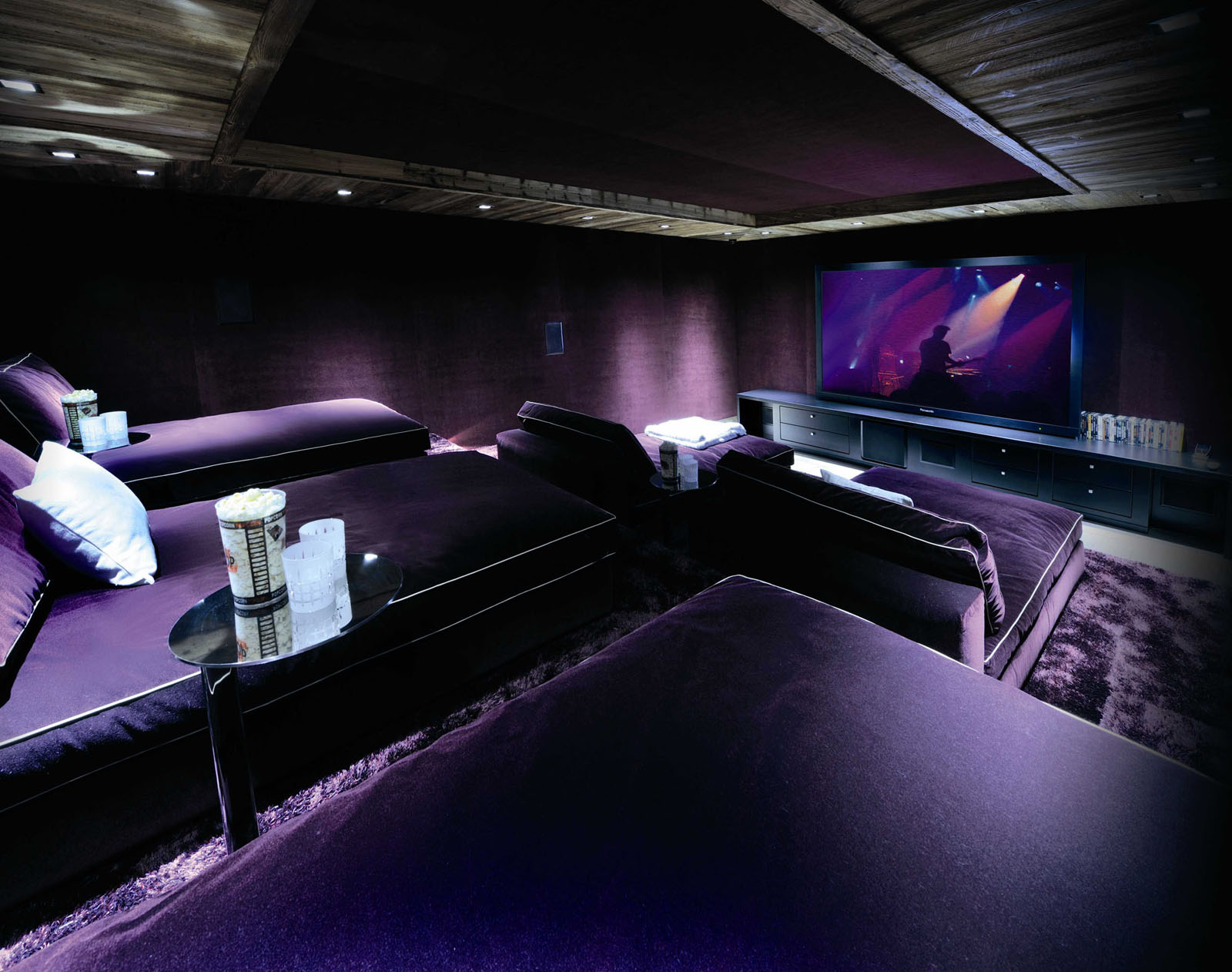 Elegant Home Cinema with Loungers