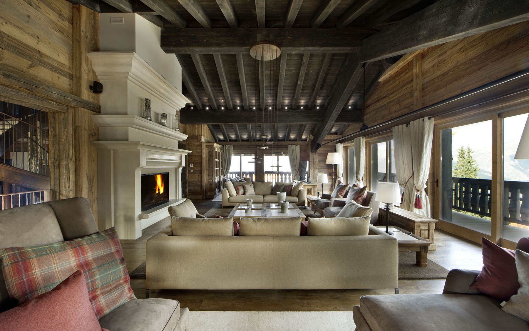 Ski Chalet Interior Design elegant chalet edelweiss in the french alps | idesignarch