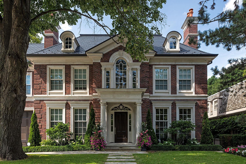 Luxury Red Brick Exterior House