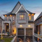 Beautiful Classic Style Suburban Home with Stone Façade