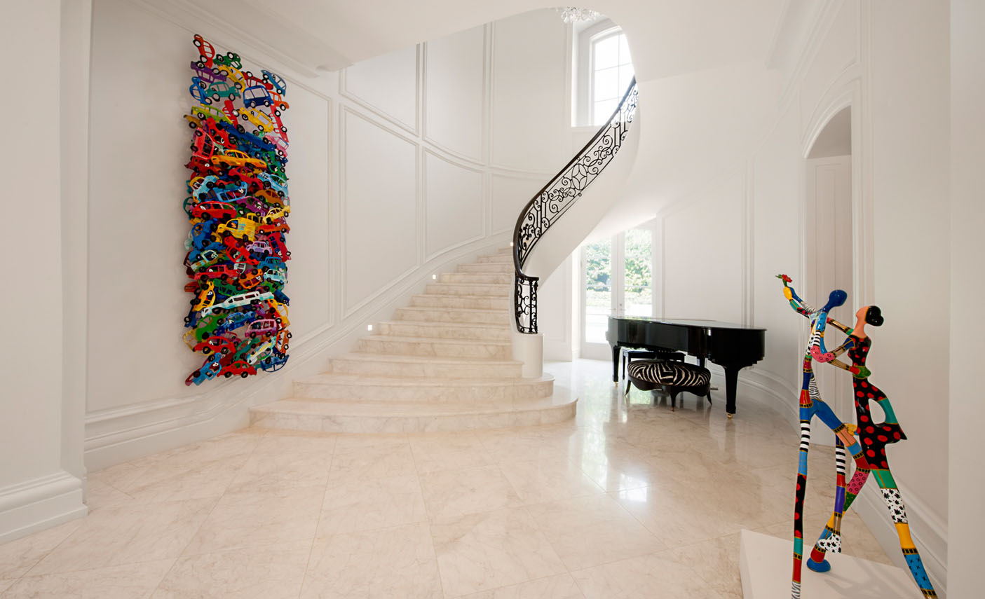 Marble Curved Grand Staircase