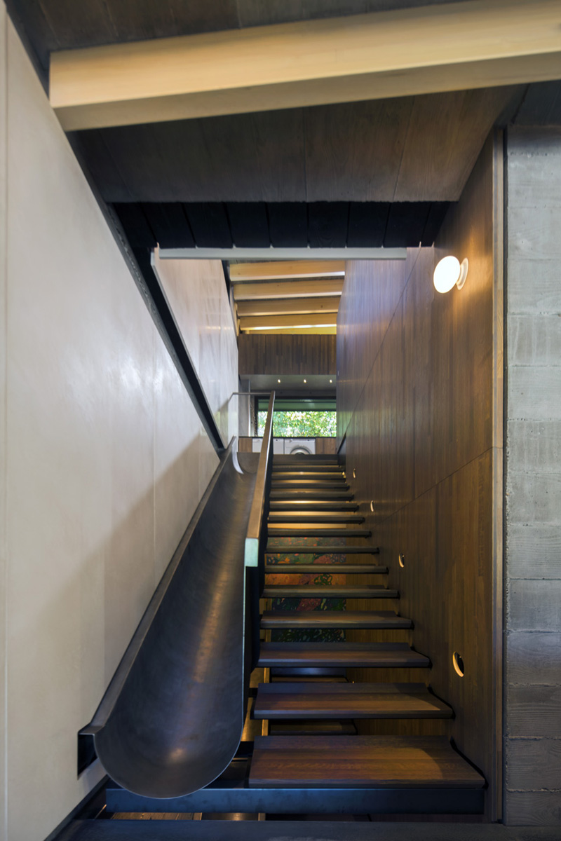 Modern Staircase with Slide