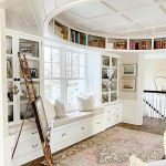 "Gorgeous Built-In ""Oval Office"" with Exquisite Coffered Ceiling"
