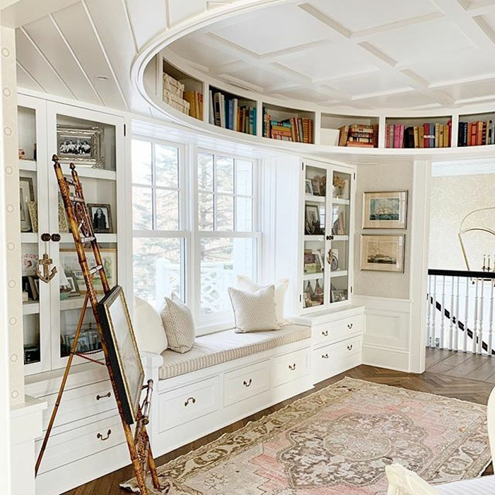 Coffered-Ceiling-Bedroom-Suite-Library-Lake-Geneva-Wisconsin_1