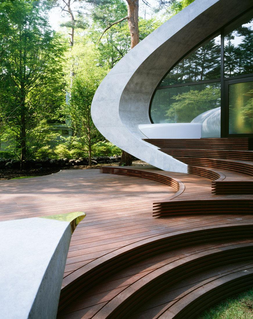 Concrete Shell Villa In The Forest Idesignarch