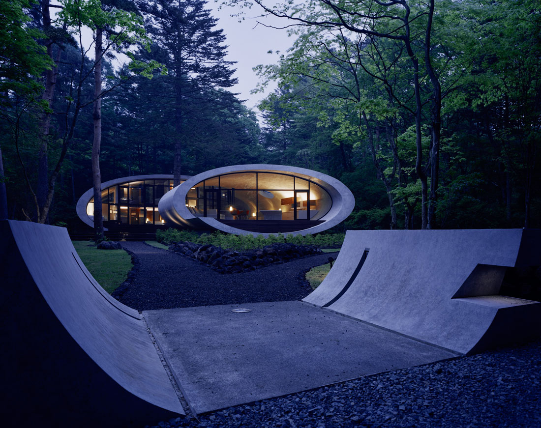 Concrete Shell Villa In The Forest Idesignarch
