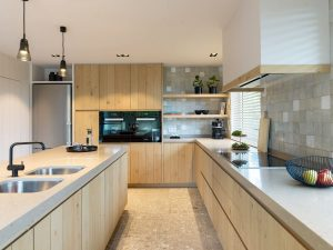 Modern Dream Kitchen with Granite Countertop and Oak Cabinets