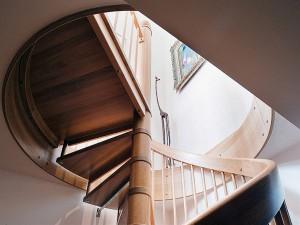 Spiral-Wooden-Staircase