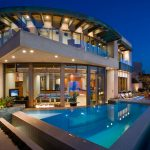 Contemporary Oceanfront Architectural Masterpiece with a Striking Modern Rotunda