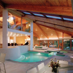 Beautiful Stone and Wood House with Indoor Swimming Pool as Central Focal Point