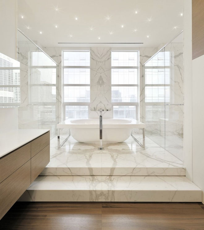 Modern Marble Bathroom