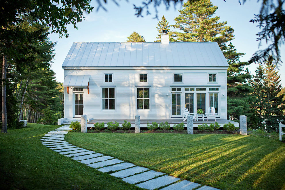 Transitional Style Coastal New England Home