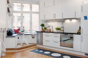 Open White Modern Kitchen