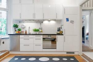 Minimalist Small White Kitchen