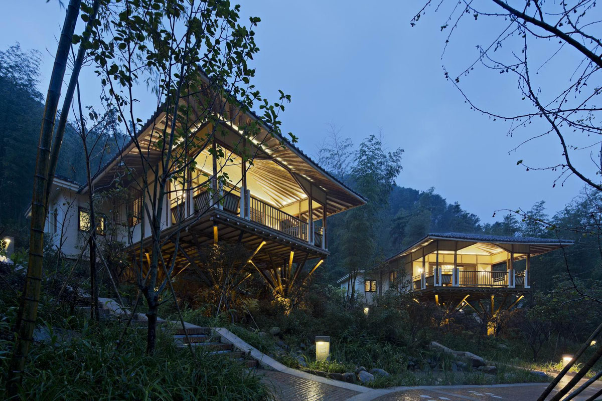 Huizhou Nankunshan Crosswaters Ecolodge Amp Spa Bamboo Villa