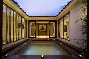 Luxury Villa Courtyard