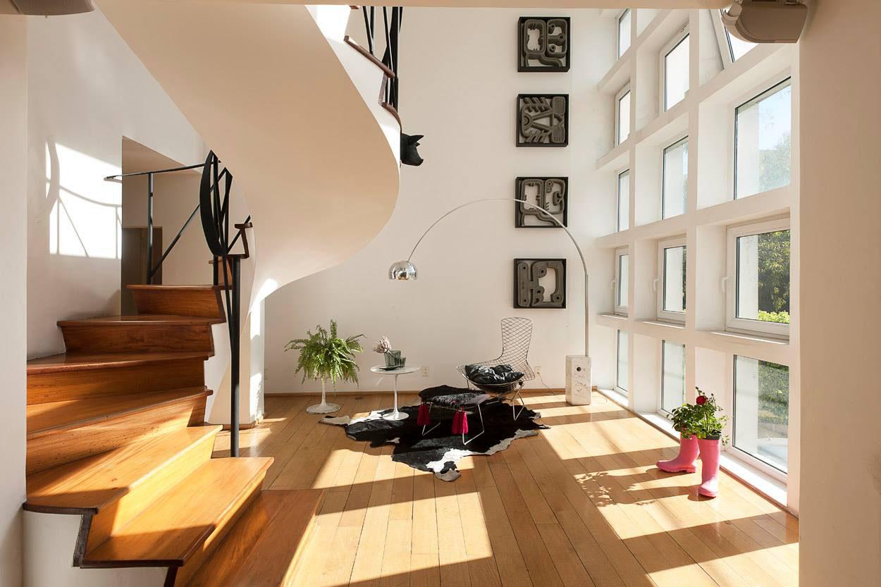 Custom designed double height duplex apartment in mexico - Plantas grandes para interiores ...