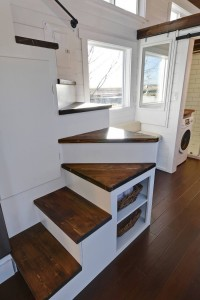 Tiny Home Wooden Staircase