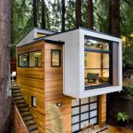 Custom Modern Home Extension and Garage in the Middle of a Redwood Forest