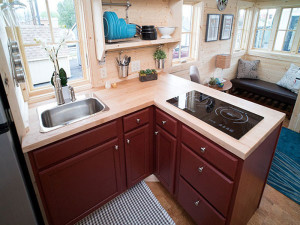 Tiny Kitchen With Induction Cooktop