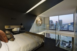 Modern Waterfront Loft Bedroom