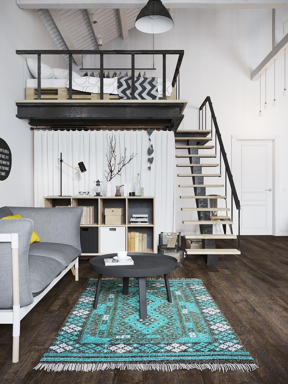 Modern Apartment with Sleeping Loft