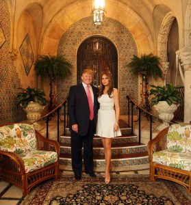 Donald Trump Melania Trump at Home Mar-a-Lago