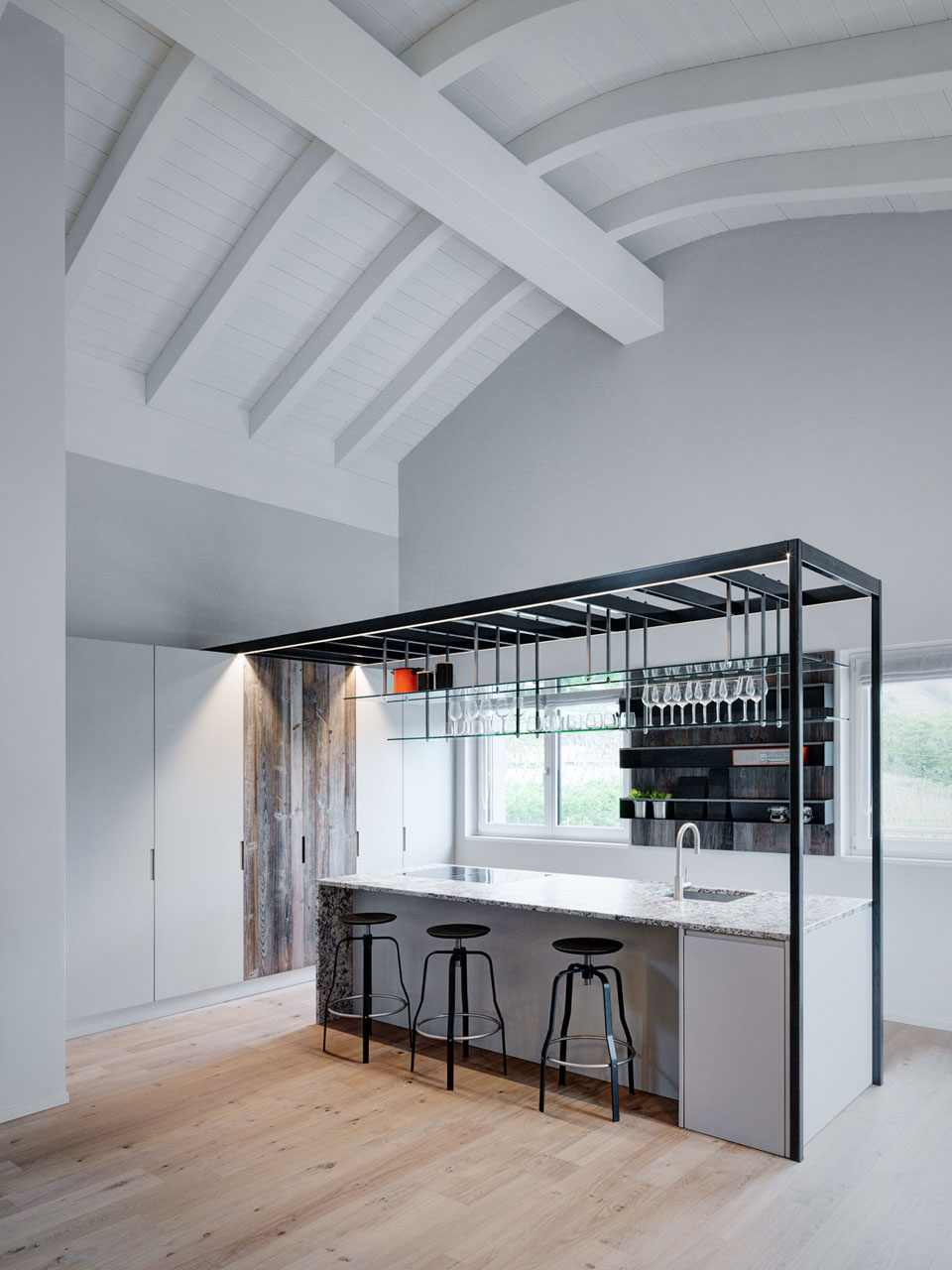 Mezzanine Kitchen Living