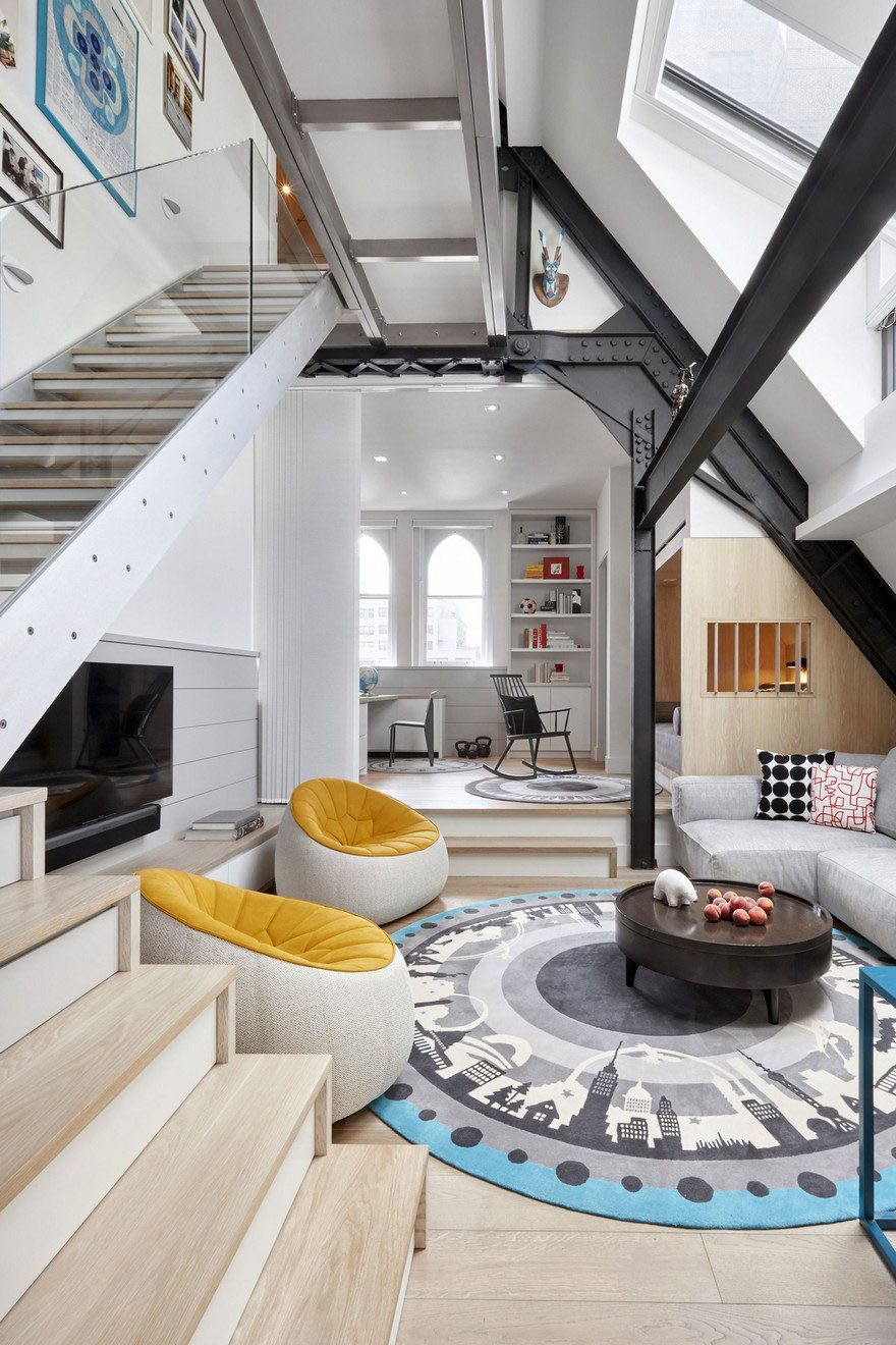 Church Conversion to Modern Penthouse Apartment