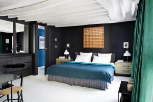 Blue palette bedroom design