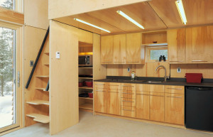 Tiny House Wood Cabinet Kitchen