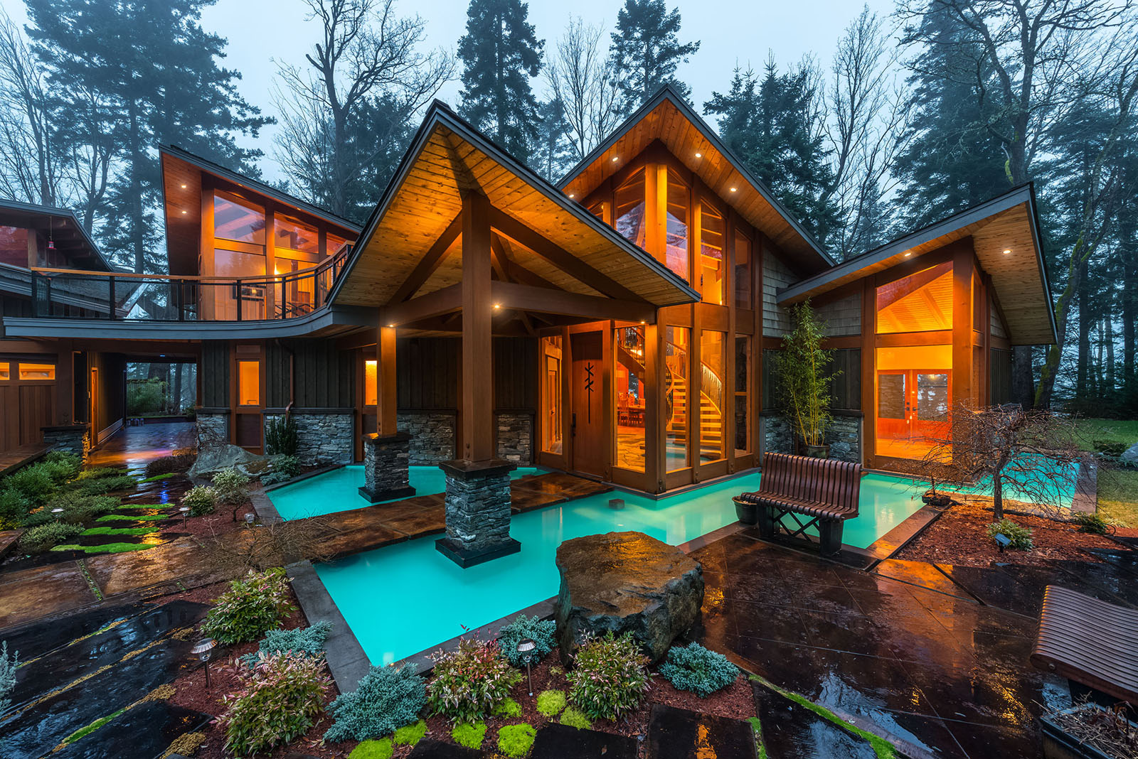 Luxury West Coast Contemporary Timber Frame Oceanfront ...