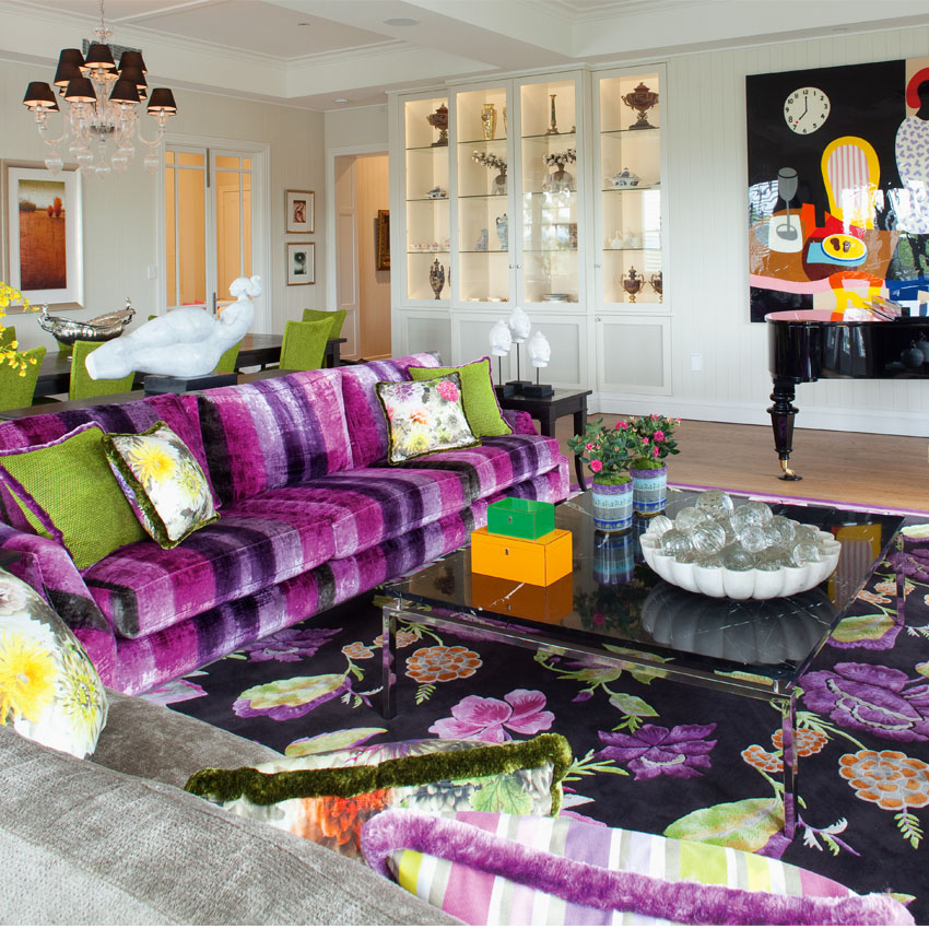 Eclectic Furnishings: Eclectic Decor With Powerful Use Of Colour And Pattern