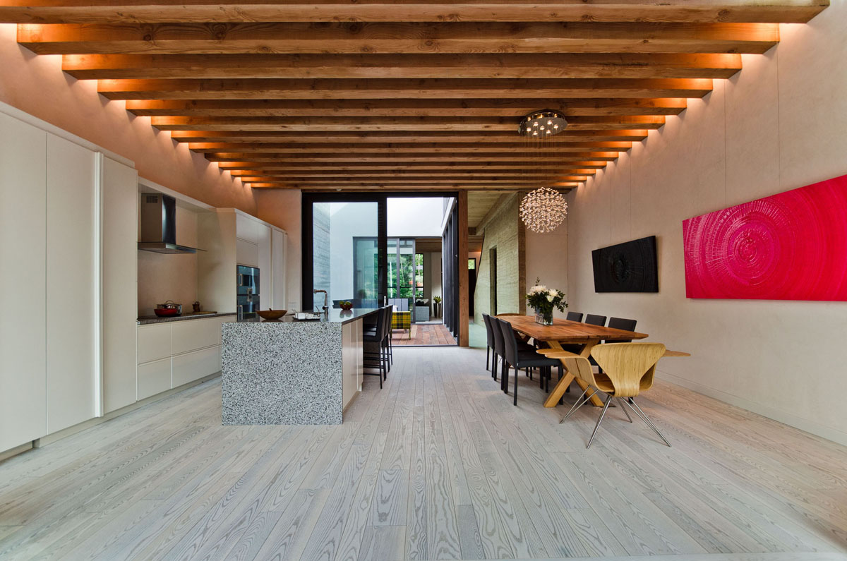 Ecological House In Montreal With Contemporary Exposed