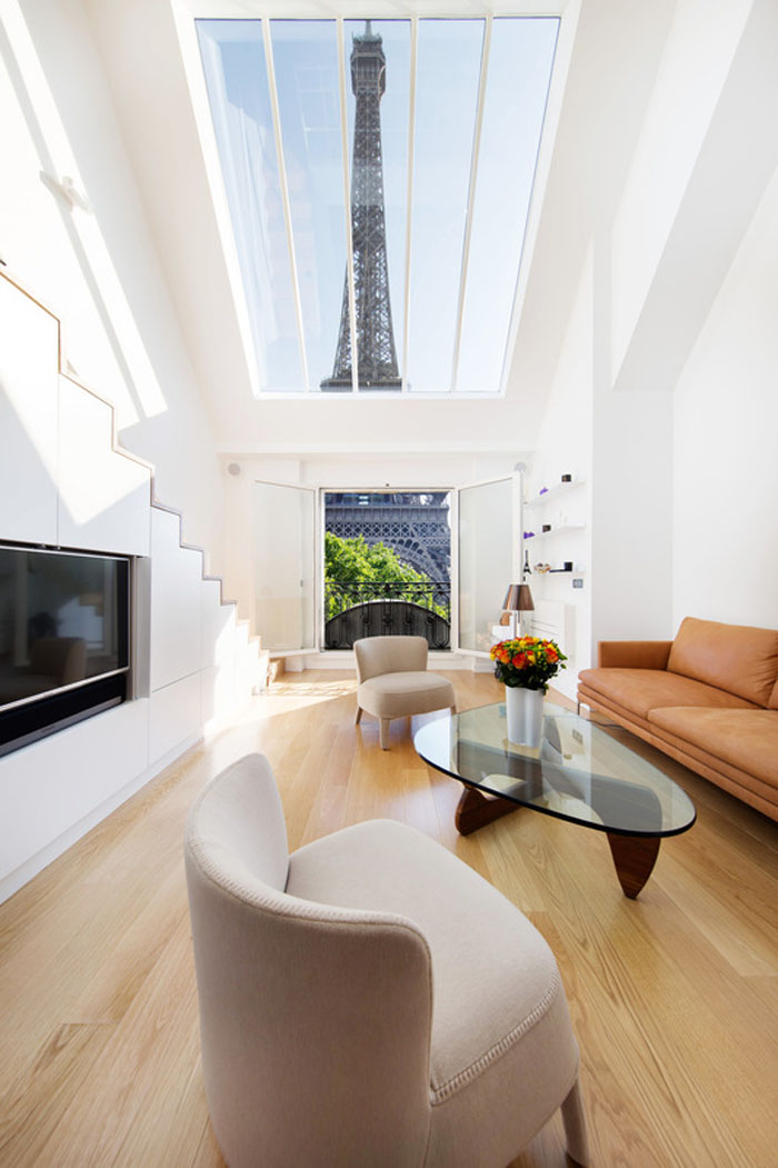 Luxury Modern Loft Apartment with Eiffel Tower View