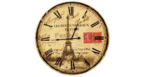 Eiffel-Tower-Wall-Clock